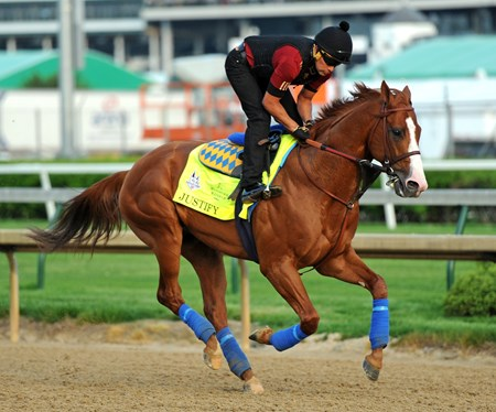 Derby 144 morning line favorite Justify, Humberto Gomez up