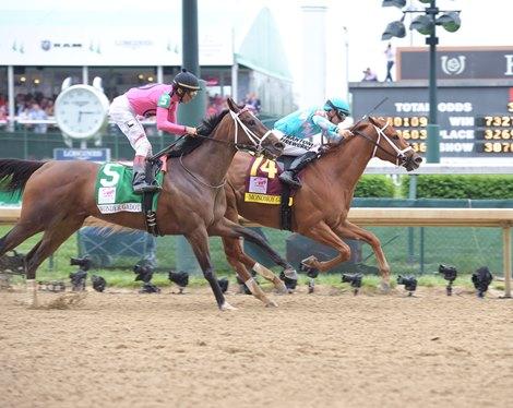 Monomoy Girl Digs Deep To Win Kentucky Oaks Bloodhorse
