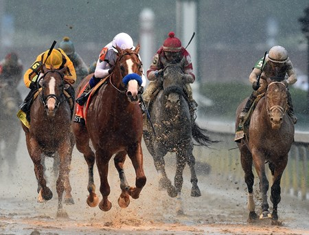 Justify (7) Mke Smith up, wins the 144th Kentucky Derby