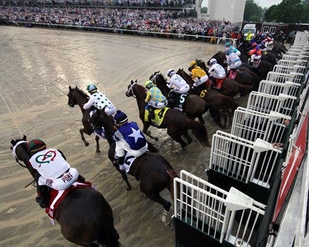 The start of the 144th Running of the Kentucky Derby (GI) at Churchill Downs on May 5, 2016