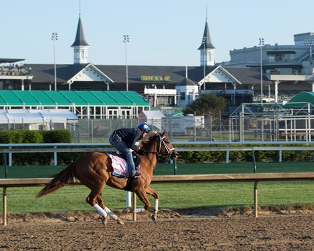 Monomoy Girl Morning scenes on May 1, 2018 Churchill Downs in Louisville, Ky.