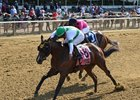 Athens Queen wins the Astoria Stakes at Belmont Park
