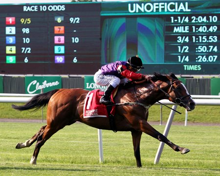 Call To Mind finished well to win the Belmont Gold Cup Invitational at Belmont Park
