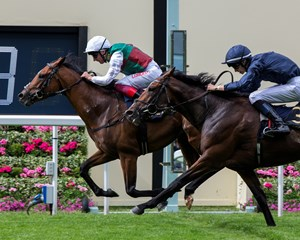 Without Parole with Frankie Dettori up wins the St James's Palace Stakes