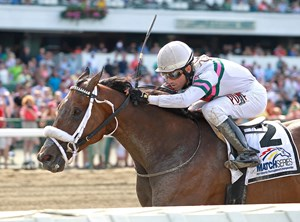 Chublicious wins Mr. Prospector Stakes, a MATCH series race, before a large crowd June 17 at Monmouth Park