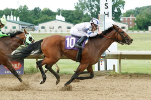 Core Beliefs edges Lone Sailor for the Ohio Derby win at Thistledown
