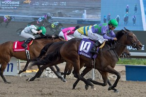 Gamble's Ghost rallies to a half-length score in the Trillium at Woodbine