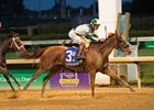 Blue Prize clears Farrell to win the Fleur de Lis Handicap at Churchill Downs