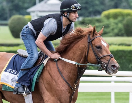 Hofburg at Belmont Race Course Thursday June 7, 2018 in Elmont, N.Y.