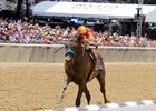 Hoppertunity leaves the competition behind in the Brooklyn Invitational Stakes at Belmont Park