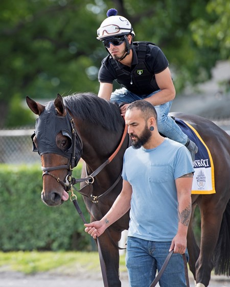 Gronkowski Morning training on June 6, 2018 at Belmont Park in Elmont, New York.