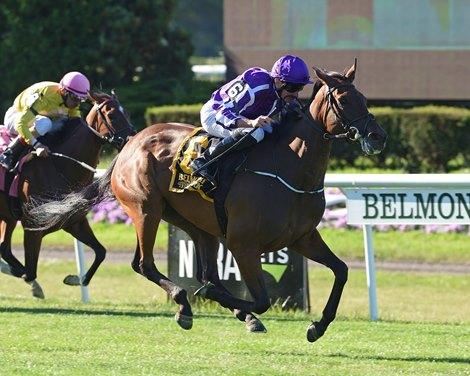 Athena Reigns Supreme In Belmont Oaks Bloodhorse