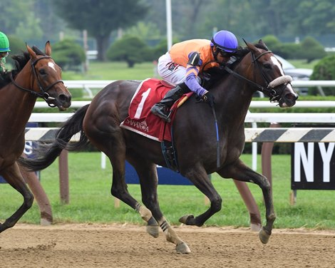Short Rest No Problem For Frostie Anne In Saratoga Dew