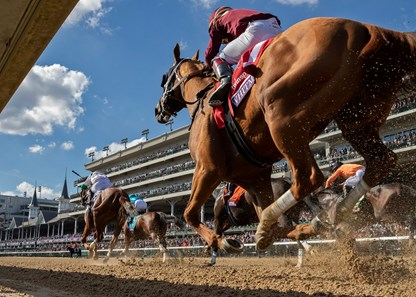 Whitmore rallies up for third in the Breeders Cup Sprint at Churchill downs, jockey Ricardo Santana Jr up