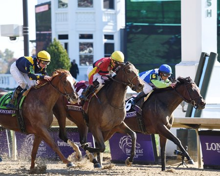 shamrock rose pulls off upset in bc filly mare sprint bloodhorse