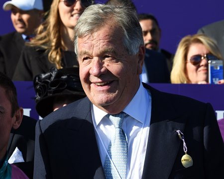 Sir Michael Stoute will send out the Queen's juvenile Just Fine Aug. 14 at Lingfield