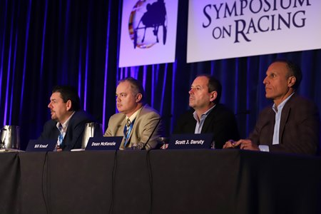 A sports wagering panel weighs in during the 2018 Symposium on Racing