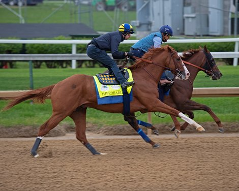 Improbable Rounds Out Baffert S Kentucky Derby Works