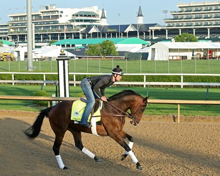 Omaha Beach gallops April 29 at Churchill Downs