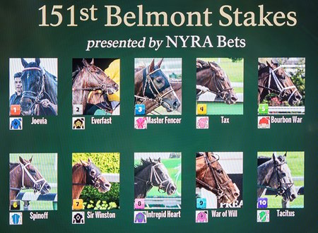 Favored Tacitus to Break From Post 10 in Belmont Stakes