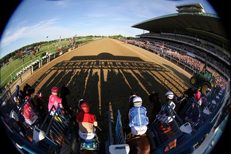 The start of the 2019 Belmont Stakes at Belmont Park