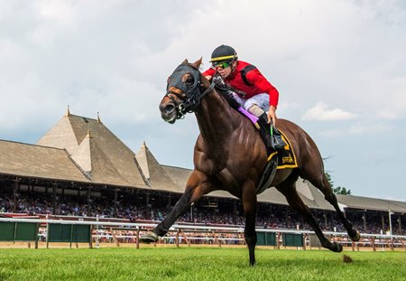 Leinster wins the Troy Stakes at Saratoga Race Course