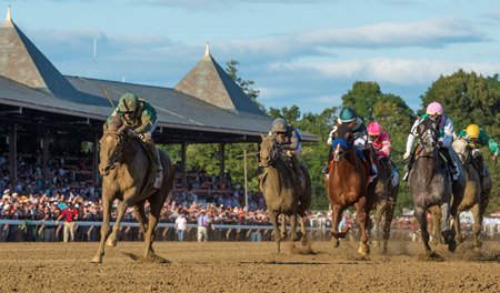 Code of Honor wins the 2019 Travers Stakes at Saratoga Race Course
