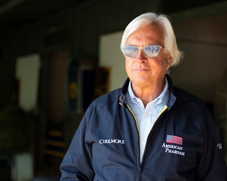 Bob Baffert at Santa Anita Park