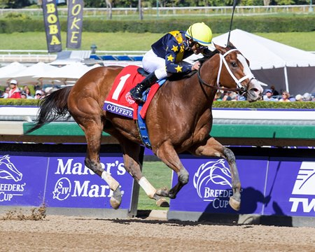 Covfefe Trumps Rivals In Bc Filly And Mare Sprint Bloodhorse