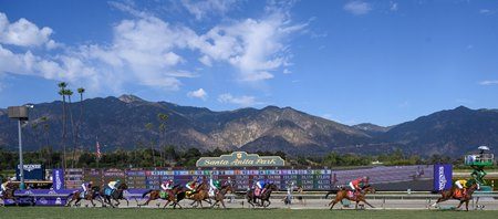 Racing at Santa Anita