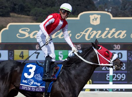 Spun to Run wins the Breeders' Cup Dirt Mile
