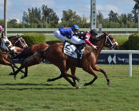 Texas Wedge Gives Miller Another Turf Sprint Stakes Win