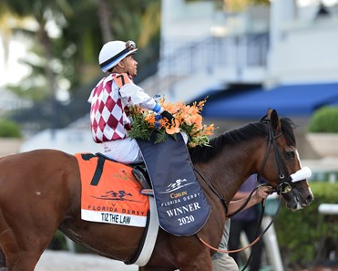 Tiz the Law wins the 2020 Florida Derby at Gulfstream Park