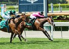 Laura's Light wins the Honeymoon Stakes at Santa Anita Park