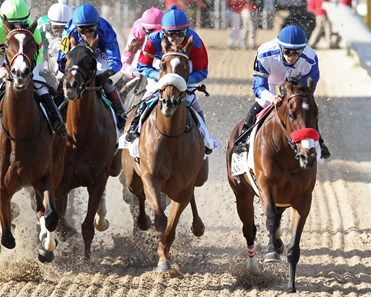 Swiss Skydiver wins the 2020 Fantasy Stakes at Oaklawn Park