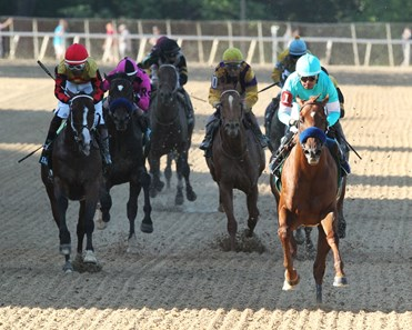 Charlatan wins division one of the Arkansas Derby (G1) May 2 at Oaklawn Park