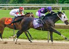 Lucky Move wins the Obeah Stakes on Delaware Park's opening day