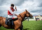 Adam Kirby celebrates after winning the Commonwealth Cup on the Clive Cox trained Golden Horde Ascot 19.6.20