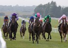 Siskin (middle) wins the Irish Two Thousand Guineas at the Curragh