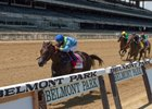 No Parole wins the Woody Stephens Stakes at Belmont Park