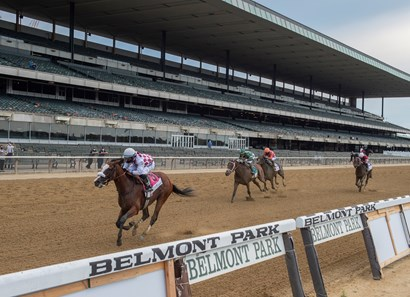 Tiz the Law with jockey Manny Franco showed his dominance going on to the win in the 152nd running of the Belmont Stakes at Belmont Park on Belmont Stakes Day June 20, 2020