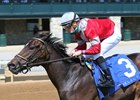 Four Graces wins the Beaumont Stakes at Keeneland