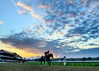 A beautiful sunrise at the Saratoga Race Course Thursday July 30, 2020 in Saratoga Springs, N.Y.