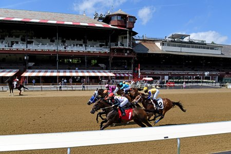 Racing at Saratoga Race Course