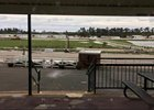 An Aug. 27 photo from Delta Downs depicts damage at the track following Hurricane Laura