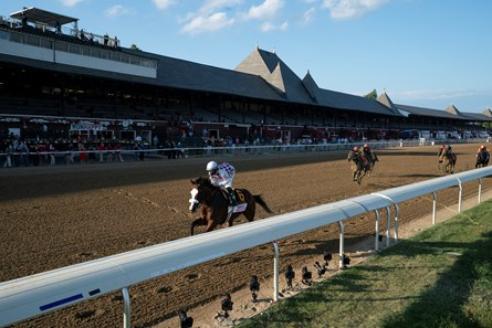 Tiz the Law wins the 2020 Travers Stakes