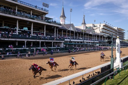 Shedaresthedevil with Florent Geroux, left up win the 146 Running of the Kentucky Oaks, Friday, Sept. 04, 2020  at Churchill Downs in LOUISVILLE.