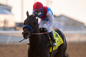 Princess Noor wins the Del Mar Debutante Stakes at Del Mar