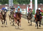 Monomoy Girl wins the La Troienne at Churchill Downs