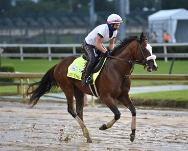 September 2, 2020: Kentucky Derby favorite Tiz the Law, Heather Smullen up